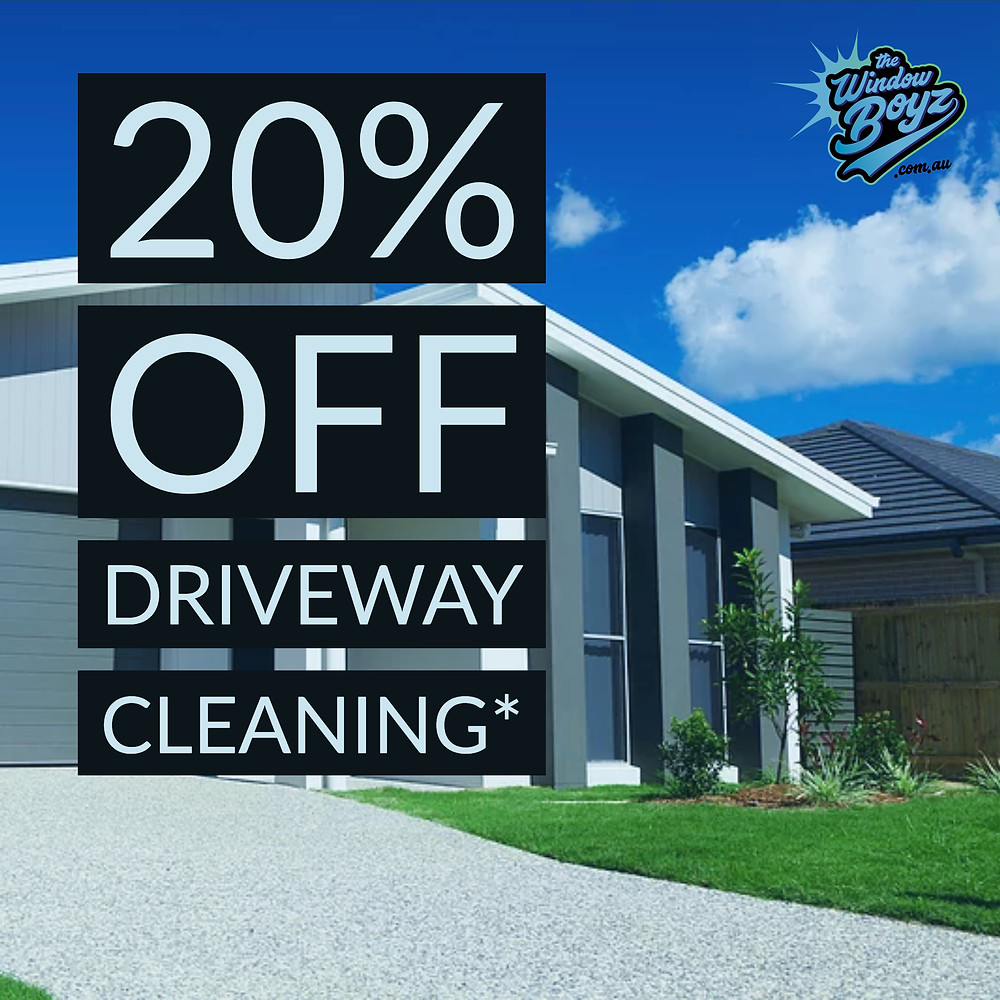 20% Off Driveway Cleaning*