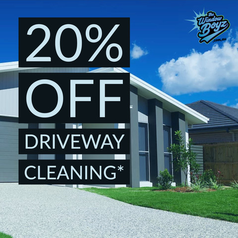 October Special: 20% OFF Driveway Cleaning*