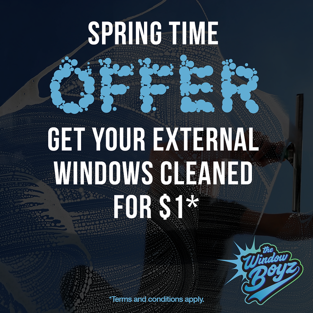 Get your external windows cleaned for only $1*
