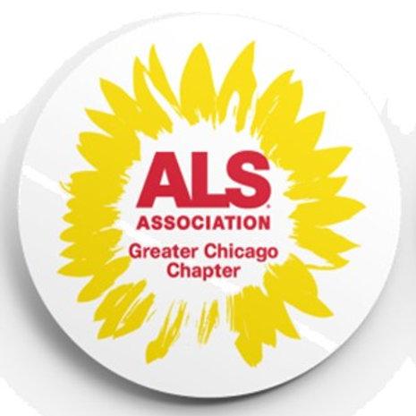 The ALS Association Sunflower Button