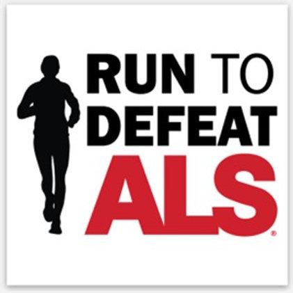 Run to Defeat ALS Sticker