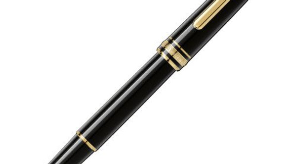 Montblanc Meisterstuck Classique Gold Luxury Rollerball Black (1)