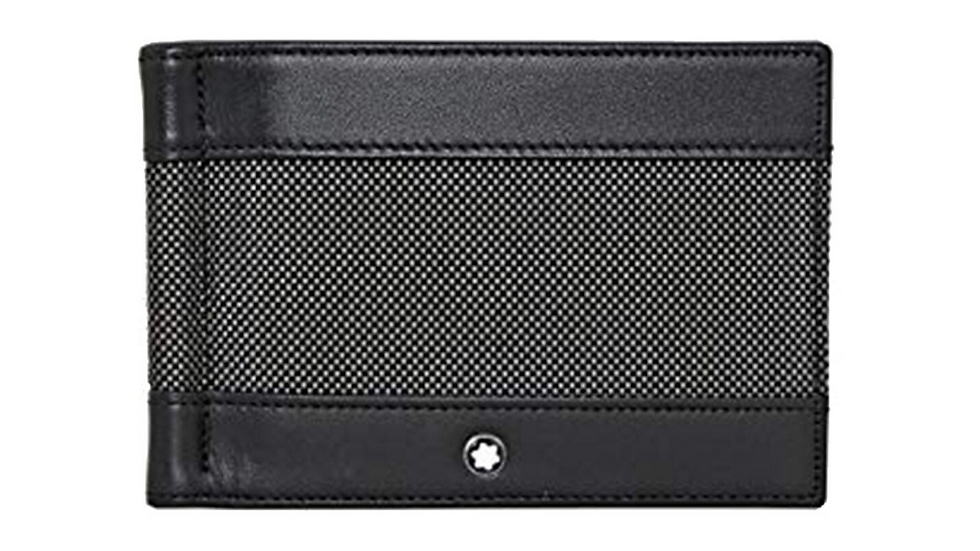 Montblanc Wallet Meisterstück Canvas 6CC with Money Clip-Grey
