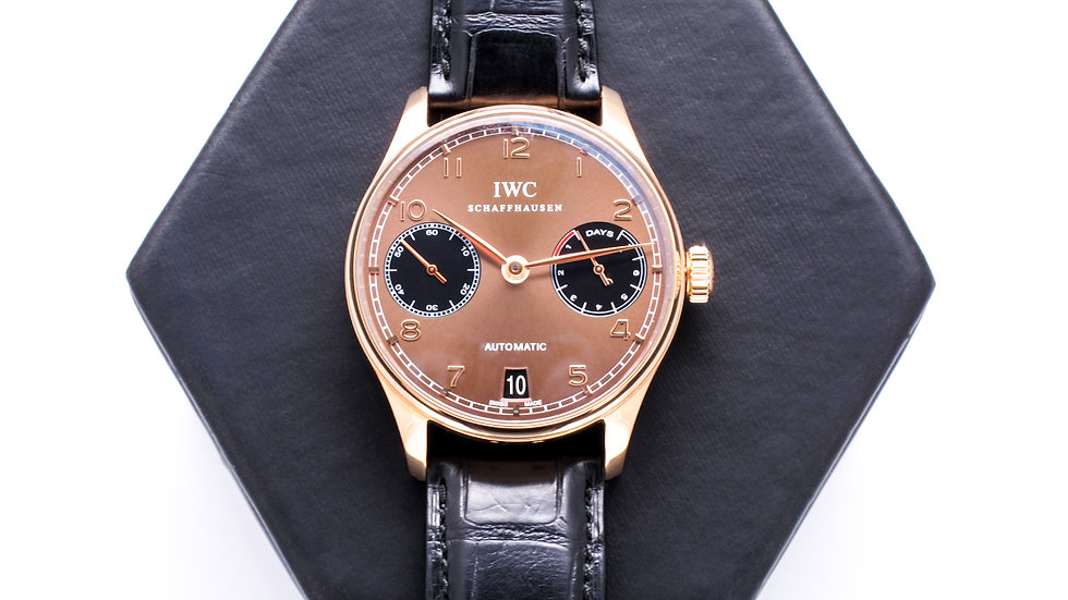 ⦁ Portuguese 7 Day Power Reserve Automatic Rose Gold Men's Watch ⦁