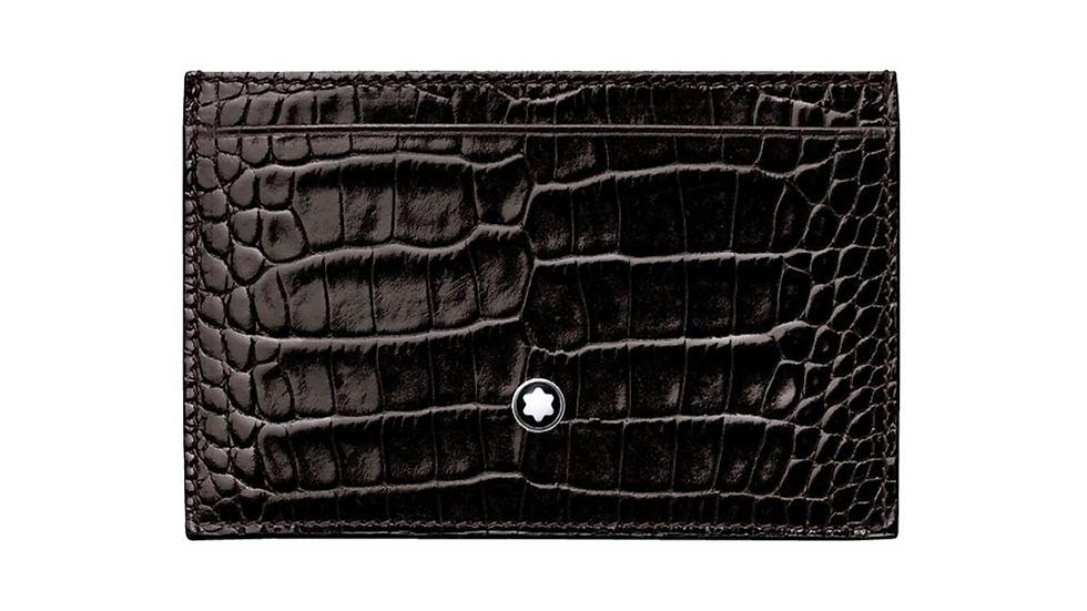 Montblanc Card Holder Mocha Leather 2TC