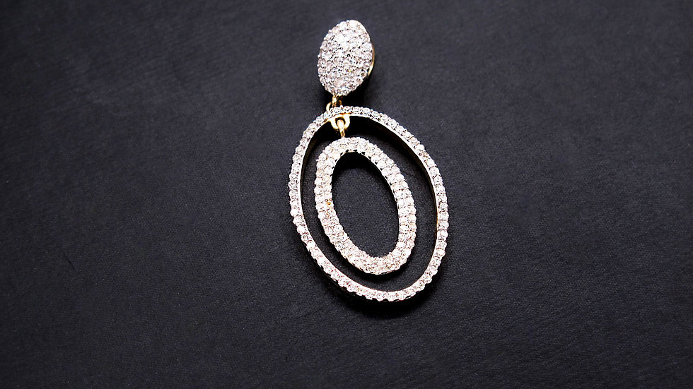 Dije Oval Diamantes