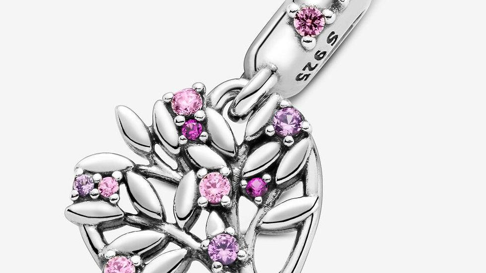 ⦁ PANDORA ⦁ Charm Pink Heart Family Tree
