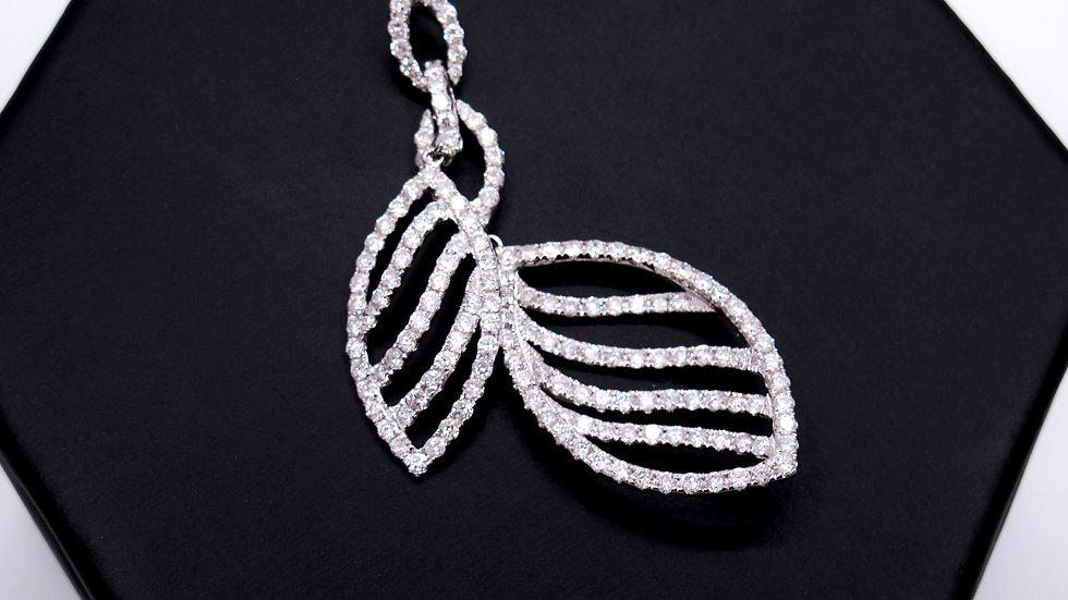 Dije Oro Blanco con Diamantes