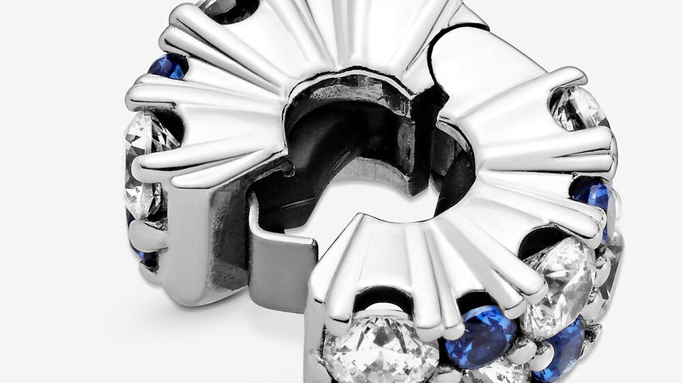 ⦁ PANDORA ⦁ Clip Clear & Blue Sparkling