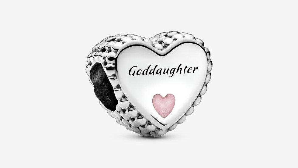 ⦁ PANDORA ⦁ Charm Goddaughter Heart