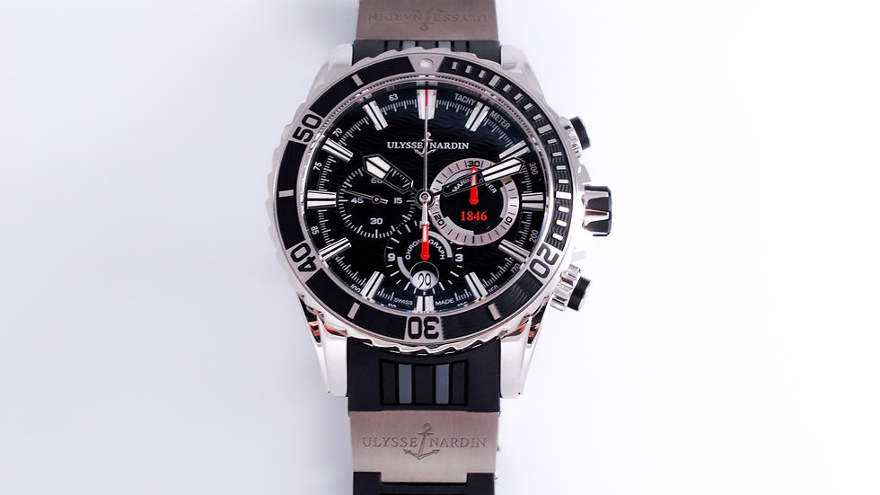 ⦁ Ulysse Nardin Marine Diver Chronograph Black Dial  ⦁