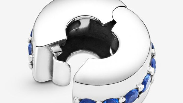 ⦁ PANDORA ⦁ Clip Blue Sparkle