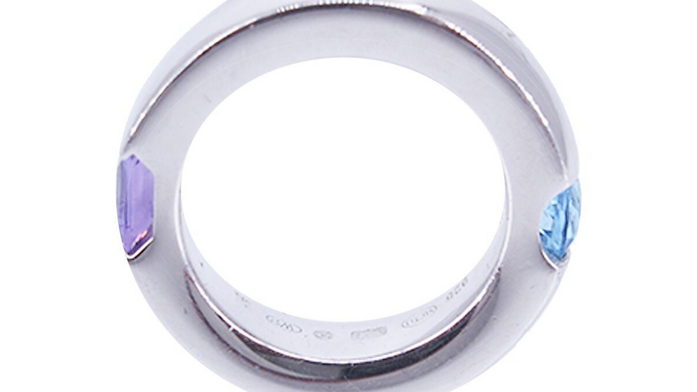 Montblanc Female Jewellerly Boheme Collection Janus Ring with Topaz/Amathyst