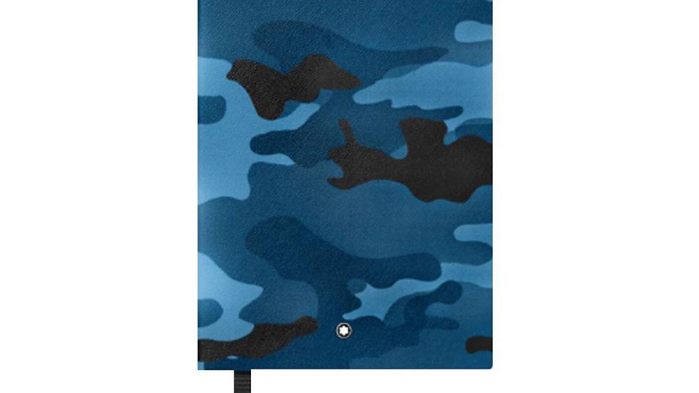 Montblanc Fine Stationery Notebook #146 CamouflagePrint Blue