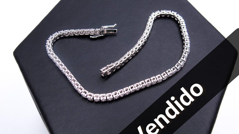 Pulsera Oro Blanco Diamantes