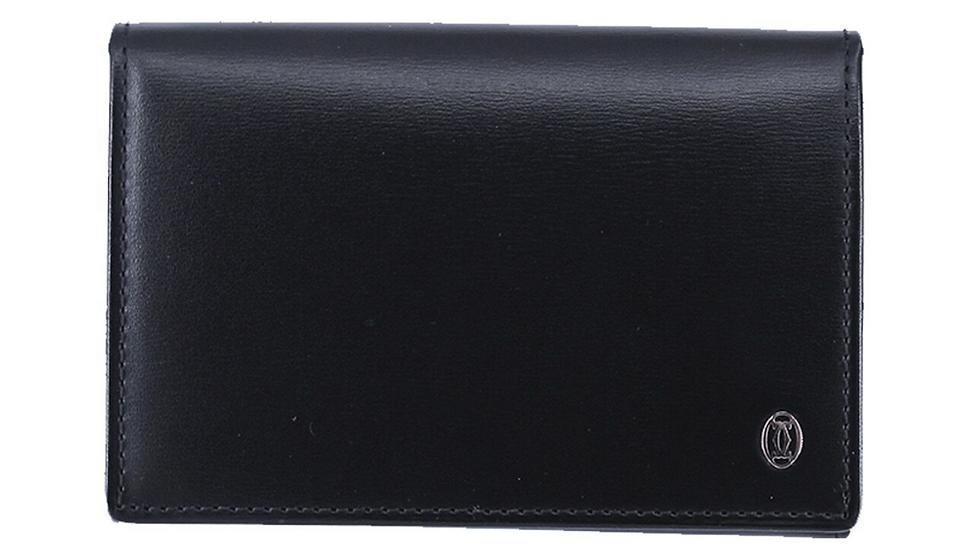 Cartier Pasha do Cartier Card Case Black Leather