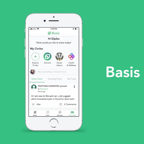 Your iPhone just got smarter. Financially smarter. Introducing Basis, on iOS