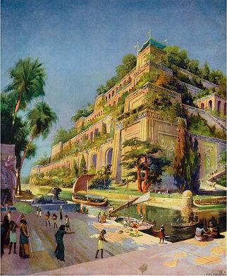 """De """"hangende tuinen van Babylon"""" komern 12 maart ter sprake. Waar zouden ze hebben gelegen en hebben ze eigenlijk wel bestaan."""