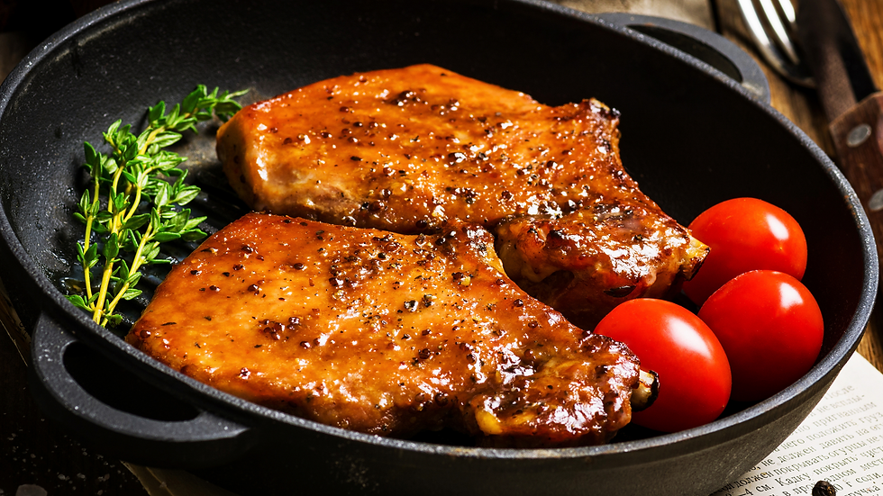 Raspberry Glazed Pork Chops (Large)