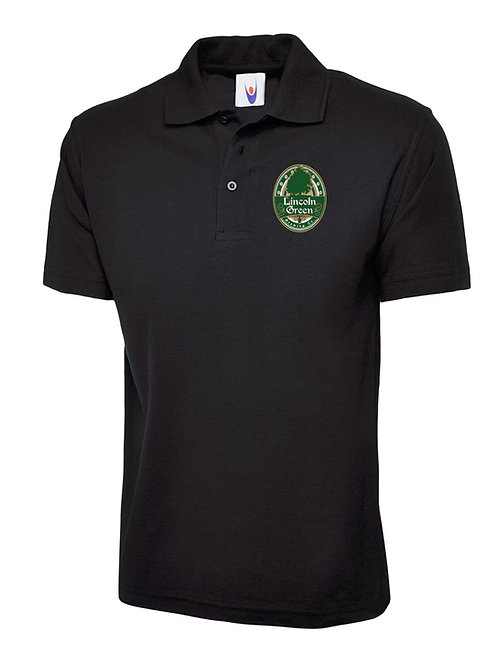 Pique Polo Shirt (Black)