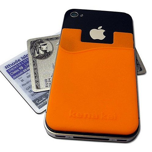 Single - Credit Card Pouch Attachment to Turn Your Mobile Phone Into an E-wallet