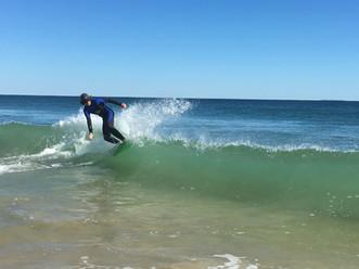 Kai Skim-boarding East Beach, Watch Hill