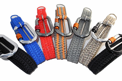 Group Shot of Paracord Belts.