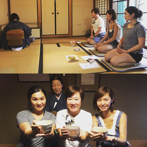Our guests from Hong Kong joining tea ce