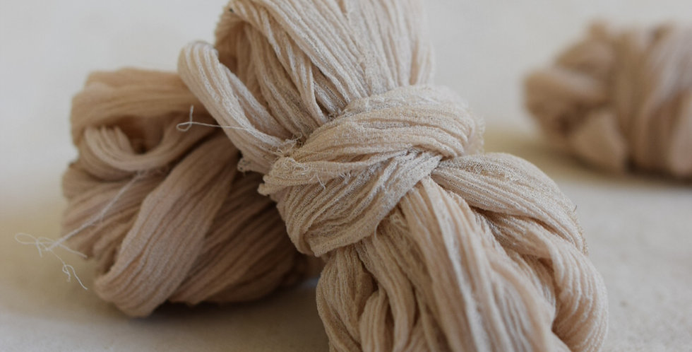 walnut crinkle silk ribbon