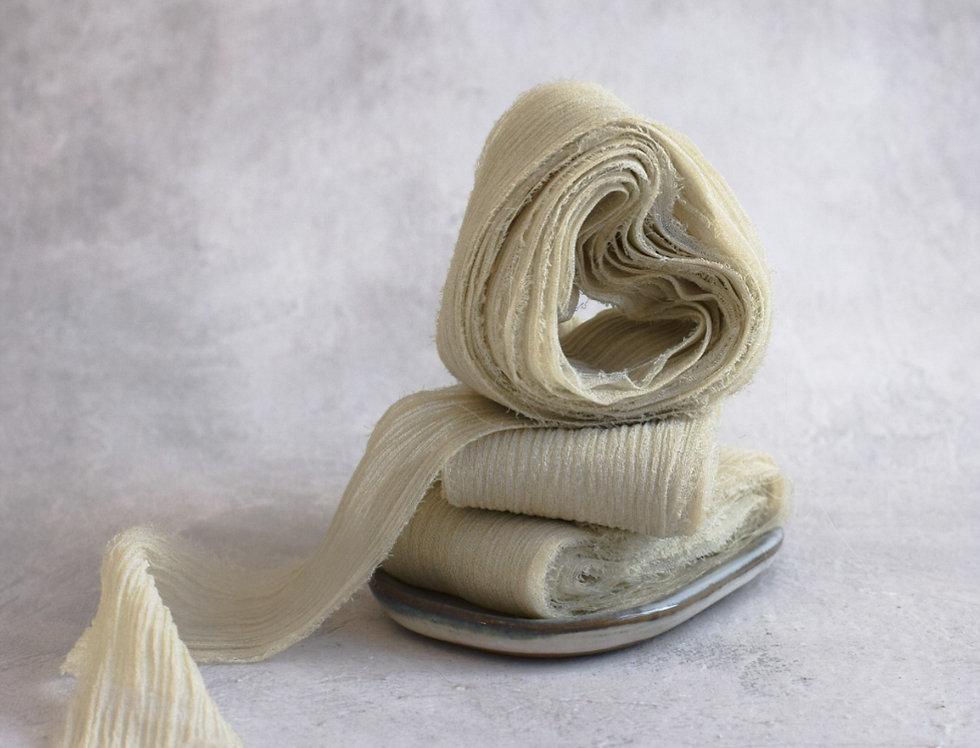 sweet celadon crinkle silk ribbon