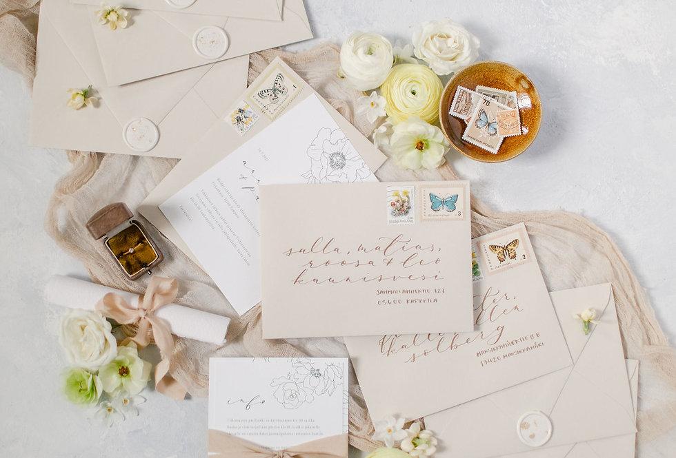 walnut luxury silk ribbon