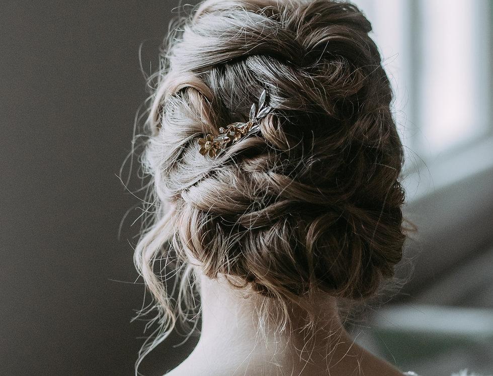 Petite Fern branch hair comb