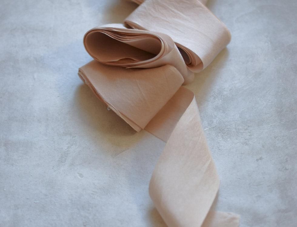 vintage rose ( light ) luxury silk ribbon