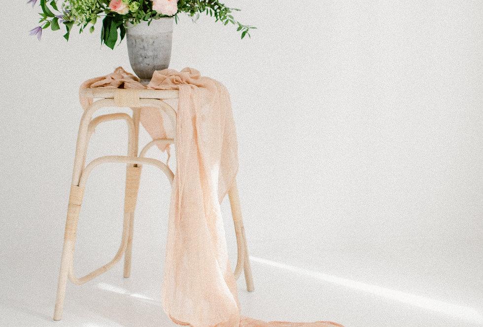 peach blossom - styling fabric