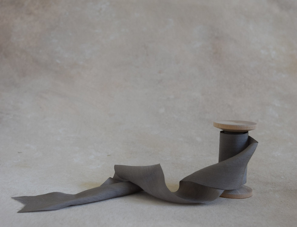 charcoal luxury silk ribbon