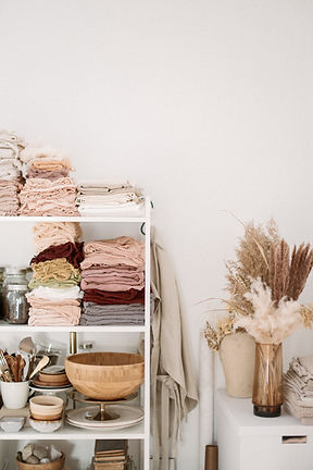 Naturally dyed silk ribbons and styling fabrics for event styling and decor.