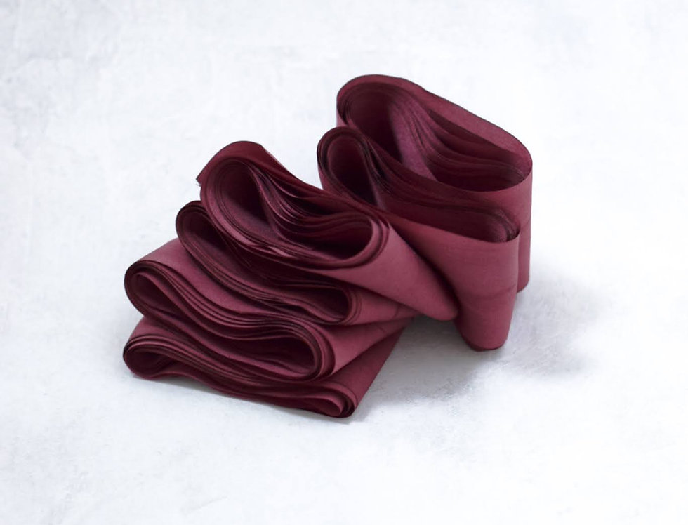 Bordeaux - Artisan Silk Ribbon