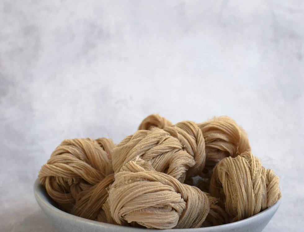 caramel crinkle silk ribbon