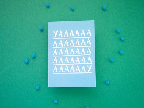 YAAAY Card   Greeting Card   Birthday Card   Engagement Card   Celebration Card
