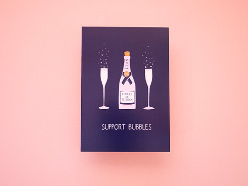 Illustrated Support Bubbles Card | Birthday Card | COVID Card | Celebration