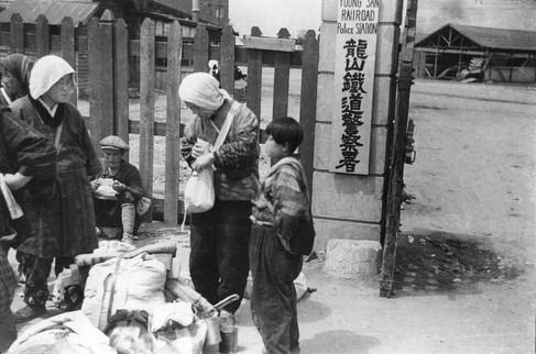 1945년 해방으로 철수하려는 일본인들