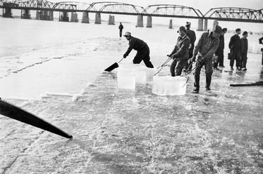 한강 얼음 채취