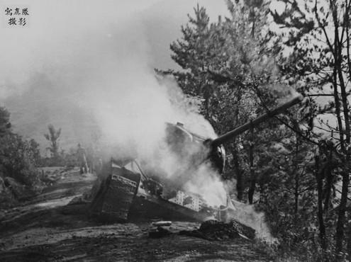 남하하는 북한 탱크를 문경부근에서  격퇴