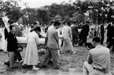효창공원에서 환국 유해 봉안식 1946