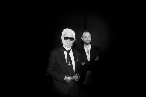 Karl Lagerfeld Benjamin Millepied ©Madame Figaro