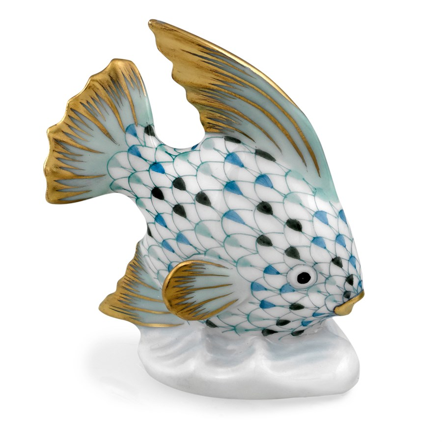 herend-fish-table-ornament-tricolor-aqua