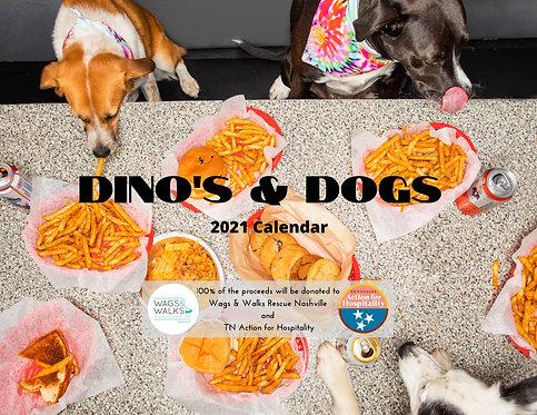 Dino's & Dogs 2021 Calendar