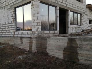 Приступили к первому этапу монтажа окон Rehau Sib Design цвет черный, поселок Ново - луговая