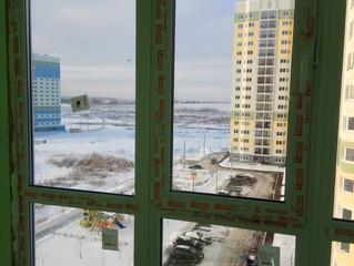 Панорамное окно с ламинацией на улице производственная