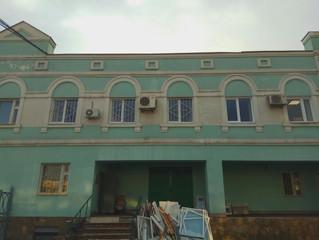 Установка окон в административном здании Рижского вокзала